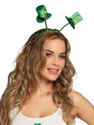 Haarreif mit grünen Kleeblat-Zylindern für Erwachsene