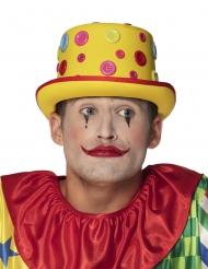 Knopf-Hut für Clowns Kostümzubehör Zirkus gelb-rot