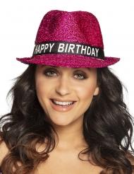 Happy Birthday-Hut Accessoire zum Feiern pink