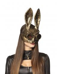 Halbmaske Hase-Steampunk für Erwachsene