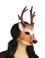 Hirsch-Maske für Erwachsene Tiermaske für Fasching braun