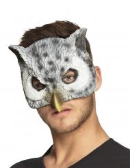 Eulen-Maske Tier-Accessoire für Erwachsene grau