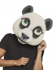 Übergroße Panda-Maske für Erwachsene schwarz-weiss