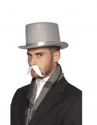 Schnurrbart selbstklebend Kostümzubehör für Herren weiss