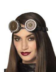 Steampunk Brille für Damen mit Rosettenmotiv