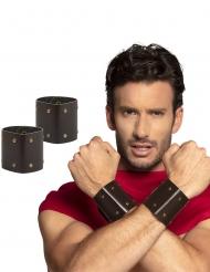 Römischer-Armschmuck Krieger-Zubehör für Erwachsene 2 Stück braun