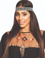 Indianer-Traumfänger Halskette für Erwachsene braun