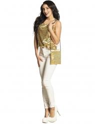 Stilvolle Pailletten Handtasche Accessoire-Zubehör gold