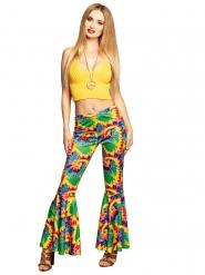 Hippie Schlaghose Kostümzubehör Batik-Muster bunt