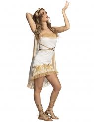 Sexy Göttinnen-Kostüm für Erwachsene weiß gold