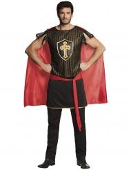 Heldenhaftes Ritterkostüm für Herren Mittelalter schwarz-gold-rot