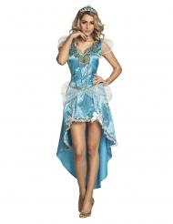 Eis-Prinzessin Damenkostüm Märchen blau-weiss