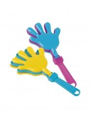 Klatschhände Piñata-Spielzeug gelb-blau-lila 6 x 13 cm