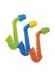 Mini-Saxophon Piñata-Accessoire 3 Stück bunt 5 cm