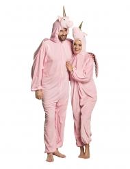 Niedliches Einhorn-Kostüm für Fasching rosa-gold
