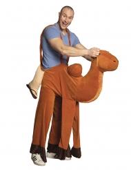 Witziges Kamel Huckepack-Kostüm für Erwachsene braun