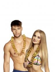 20 goldene Hawaii-Ketten für Erwachsene