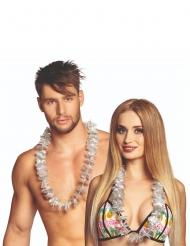20 silberne Hawaiiketten für Erwachsene