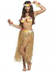 Hawaii-Kostümset mit Blumen für Erwachsene bunt