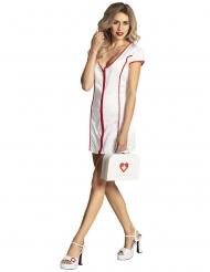 Notfall-Koffer Kostüm-Zubehör für Krankenschwestern weiss-rot 25x18cm