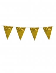 Partyzubehör Girlande Raumschmuck gold 3m