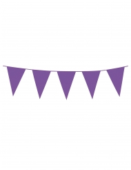 Miniwimpel-Girlande Partydekoration für Geburtstage lila 3m