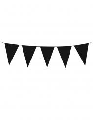 Gothic-Wimpelgirlande Halloween-Girlande 3m schwarz