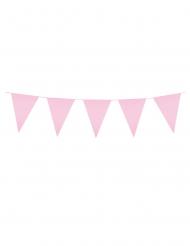 Dreieckige Wimpelgirlande rosa 3m