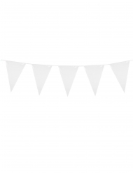 Wimpelgirlande klassisch für Feierlichkeiten weiss 3m
