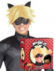 Cat Noir™-Perücke und Maske für Herren Miraculous™ blond