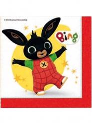 Bing™-Servietten für Kindergeburtstage 20 Stück bunt 33 x 33 cm