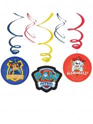 Paw Patrol™ spiralförmige Hängedekoration für Kinder 6 Stück bunt
