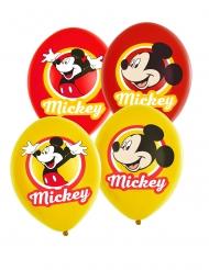 Mickey Maus™-Luftballons Kindergeburtstag 6 Stück gelb-rot 27,5cm