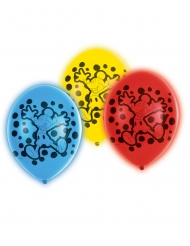 Mickey Maus™-Ballons mit LED-Licht Raumdeko 5 Stück bunt 28cm
