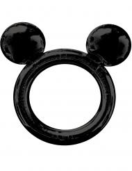 Mickey Maus™-Folienballon Bilderrahmen Foto-Zubehör schwarz 68x63cm