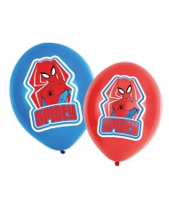 Spiderman™-Latex-Ballons Raumdekoration 6 Stück rot-blau 27,5cm