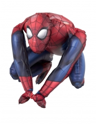 Aluminum Ballon Spiderman™-Raumdekoration rot-blau 38x38cm