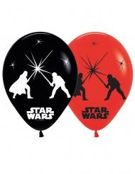Star Wars™-LED Luftballons Raumdekoration 5 Stück rot-schwarz 28cm