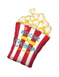 Popcorn-Folienballon Raumdekoration bunt 40x73cm