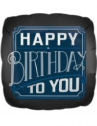 Aluminium-Ballon Happy Birthday Partyzubehör blau-weiss 43 x 43 cm