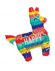 Lama-Pinata Folienballon Zum Geburtstag bunt 73x83cm