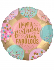 Folienballon Happy Birthday Raumdekoration bunt 43cm