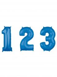 Aluminium Zahlen-Ballon Raumschmuck blau 43x66cm