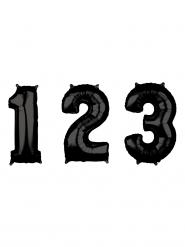 Ziffern-Ballon für Festlichkeiten Raumdekoration schwarz 66cm