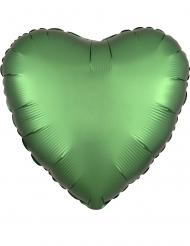 Herz-Folienballon Raumdekoration grün 43cm