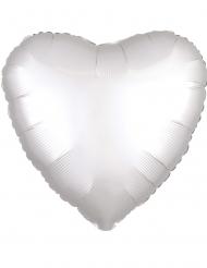 Folienballon Herz 43cm weiß Partyzubehör