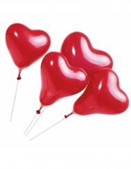 Luftballons herzförmig 5-teilig 20cm rot