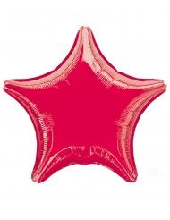 Stern Folienballon Raumdekoration rot 43cm