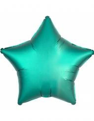 Folienballon Stern Raumdekoration Metallic türkis