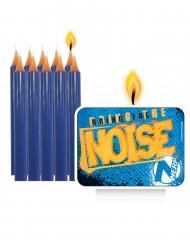 Nerf™-Kuchenkerzen Geburtstagskerzen 11 Stück blau-gelb